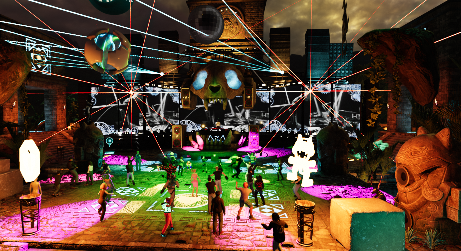 Pictures from the Monstercat Compound Pre-Party in Sansar